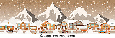 Small town in the Alps