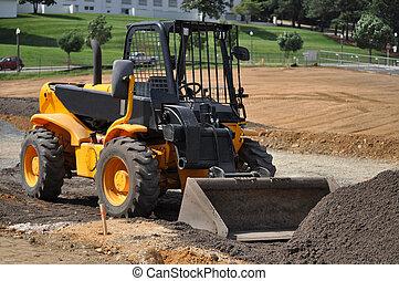 Small Construction Scooper - A small construction scooper...