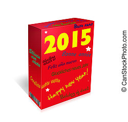 Multi lingual Happy New Year Greetings - box. - Languages...