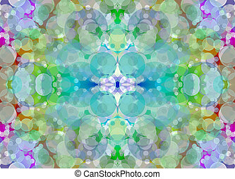Kaleidoscope multicolored blurry abstract...