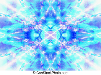 Light blue kaleidoscope background - Light blue and purple...