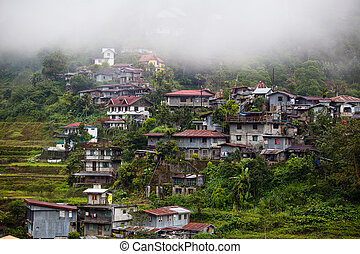 Village Banaue, Ifugao province Philippines - Village...