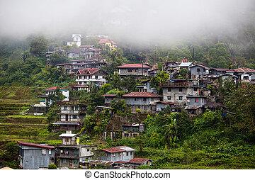 Village Banaue, Ifugao province Philippines - Village...