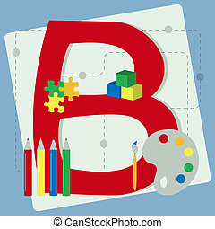 "Letter ""b"" from stylized alphabet"
