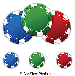 Poker Chips - Poker chips with space for copy.