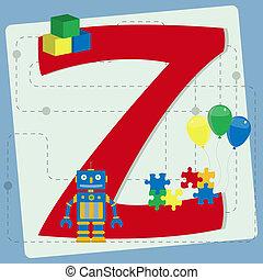 """Letter """"z"""" from stylized alphabet"""