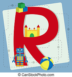 "Letter ""r"" from stylized alphabet"