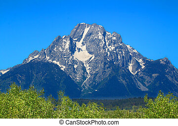 Mount Moran Grand Tetons - Mount Moran in Grand Teton...