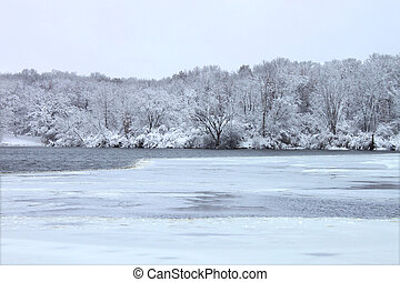 Rock Cut State Park Illinois - Winter scenery at Rock Cut...