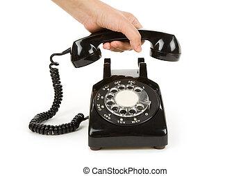 negro, teléfono