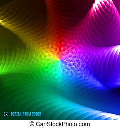 abstract spectrum fractal background - futuristic abstract...
