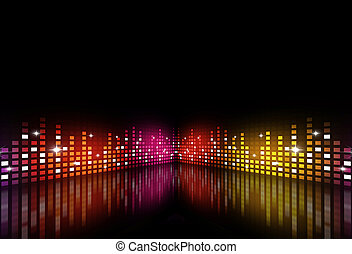 Music Multicolor Party Equalizer - abstract music background...