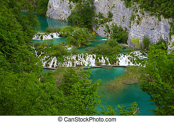 Plitvice Lakes National Park - amazing cascades in a forest...