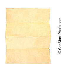 Old paper isolated on a white background