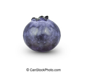 bilberry - Fresh blueberry or bilberry isolated on white...