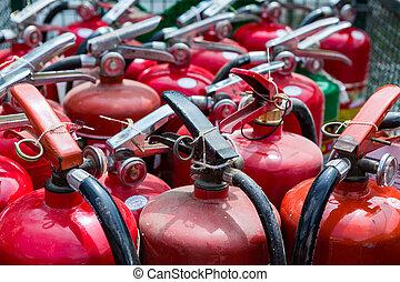 viejo, fuego, extintores
