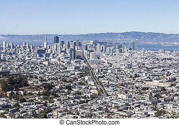 San Francisco Cityscape View - San Francisco cityscape view...