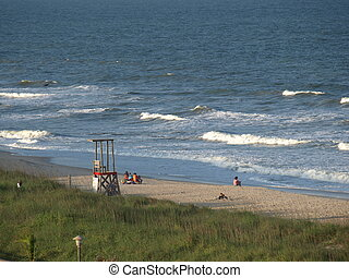 Carolina Beach - Along the beach in North Carolina during...