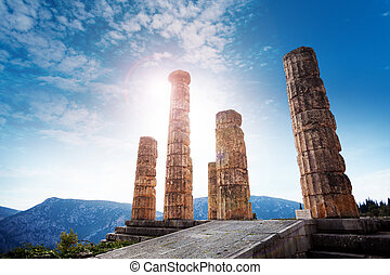 The ancient Greek temple of Apollo - Beautiful panorama with...