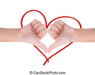 Hand like concept for love sign