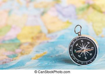 compass on the tourist map - compass on the tourist map....