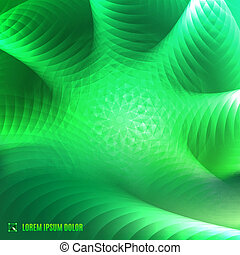 abstract green fractal background - futuristic abstract...