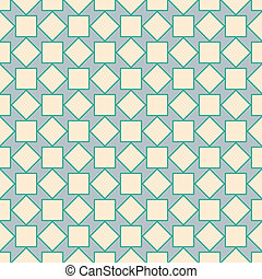 Rotated squares - Geometric seamless pattern of rotated...