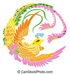 Phoenix - illustration drawing of Phoenix