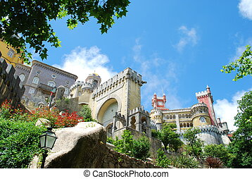 National Palace of Pena in Sintra, Portugal - famous palace...