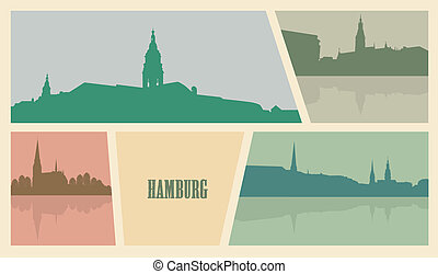 Contour of buildings in the city