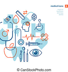 Set of medical icons - Icons for medicine, healthcare,...