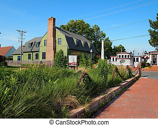 St Michaels Maryland Scene - ST MICHAELS - JULY 1: A street...