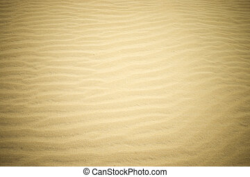 Sand on the beach.