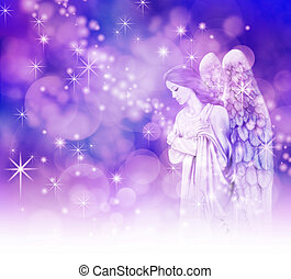 Beautiful Christmas Angel - Christmas Angel on a sparkling...