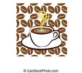 Coffee sign background