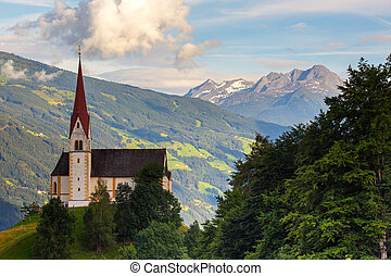 Church - Small old church in mountains Alps Austria