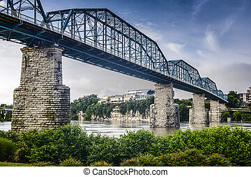 Coolidge Park and Walnut Street Bridge - Chattanooga,...