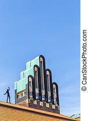 Hochzeitsturm tower at Kuenstler Kolonie artists colony in...