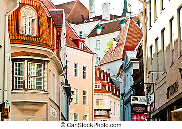 Tallin, Estonia - Beautiful roofs of the old city from...