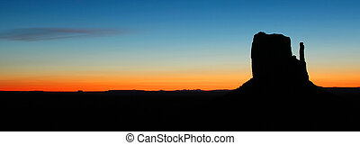 Sunrise at Monument Valley - Beautiful sunrise on mitten at...