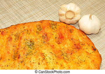 Garlic Flatbread - Cooked garlic flavour flatbread with...