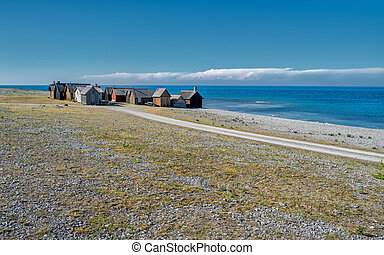 Faro island in the Baltic sea - Helgumannens fishing village...