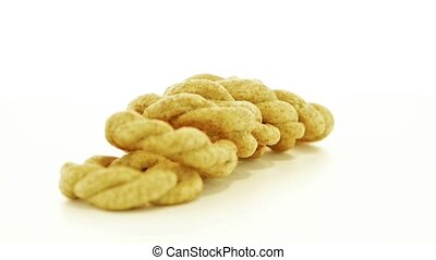 Olive crackers - Tasty round olive crackers on white...