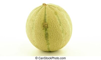 Honeydew melon - Juicy honeydew melon on a white background