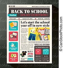 Back to School Sales Promotional Design Template in...