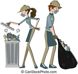 Waste Collector with clipping path