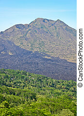 View on Batur volcano and lake, Bali, Indonesia - View on...