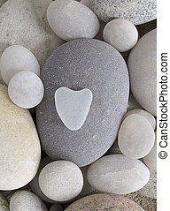heart shaped pebble