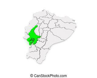 Map of Guayaquil. Ecuador. 3d