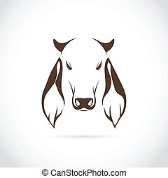 Vector image of cow head